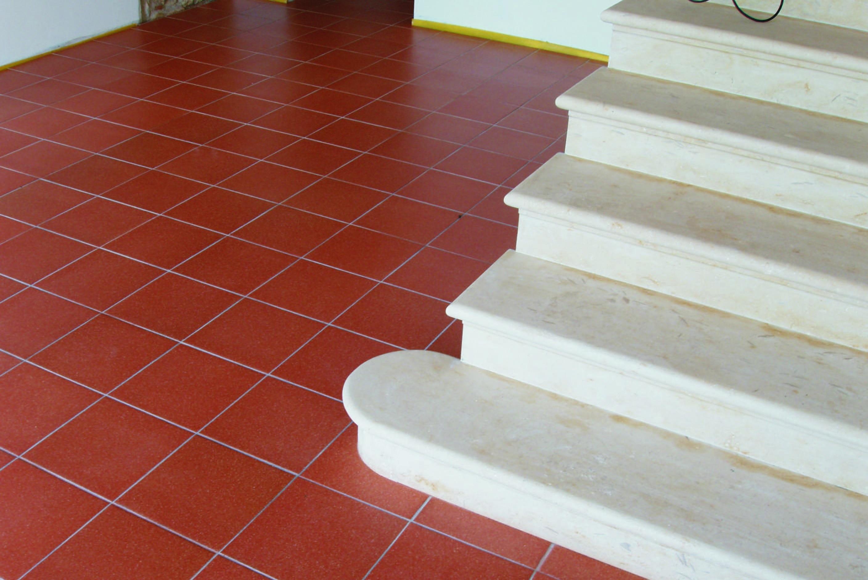 Cotto fiorentino in una ristrutturazione a lonigo vicenza fratelli pellizzari - Cotto per scale ...