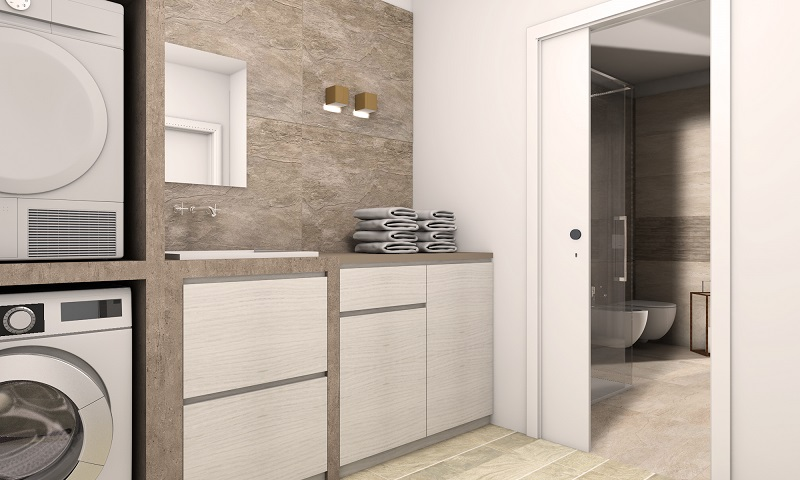 Bagno lavanderia moderno fratelli pellizzari for Casa moderna bagni