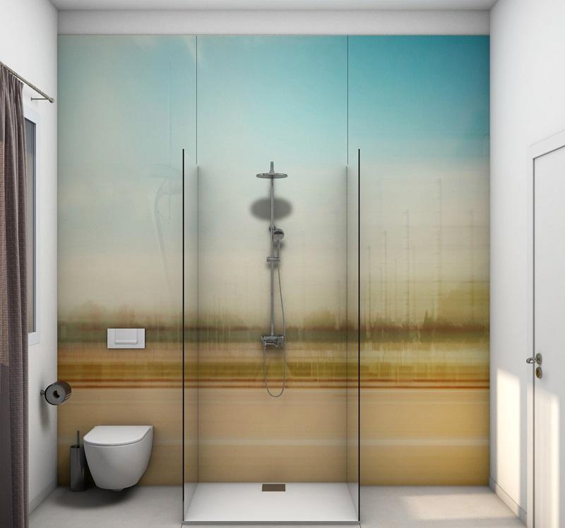 Rivestimento doccia grandi lastre fratelli pellizzari for Carta adesiva per piastrelle bagno