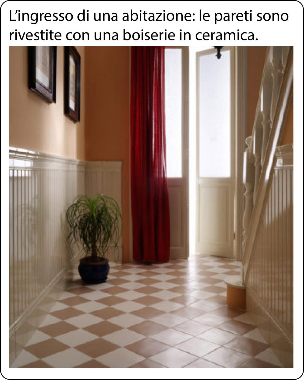 Boiserie in ceramica nel bagno moderno fratelli pellizzari - Piastrelle in inglese ...