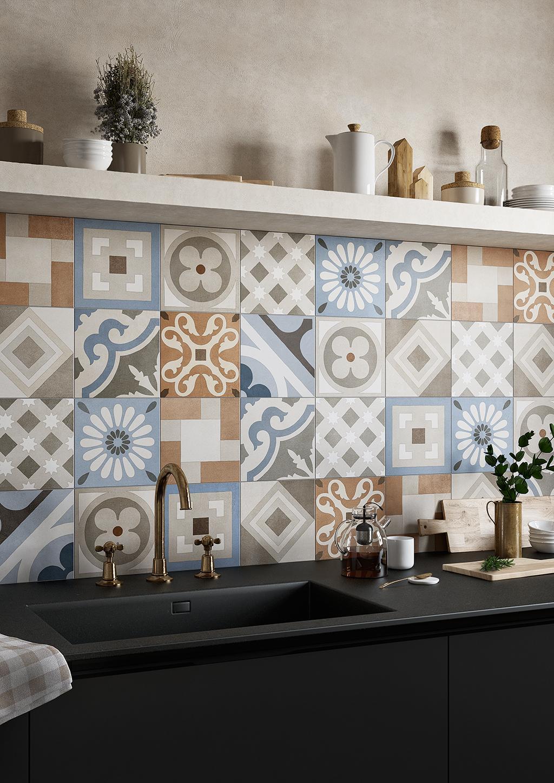 Le Cementine Piastrelle Decorate In Gres Porcellanato Fratelli Pellizzari
