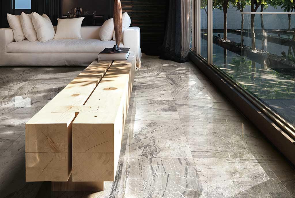 Gr s porcellanato levigato un pavimento lucido a specchio fratelli pellizzari - Piastrelle di marmo ...