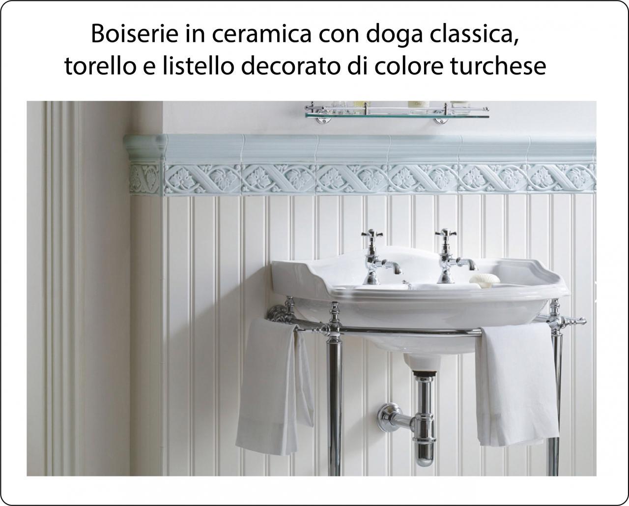 Piastrelle Bagno Altezza 120.Boiserie In Ceramica Nel Bagno Moderno Fratelli Pellizzari