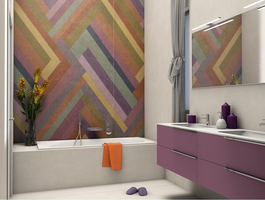 Nuove tendenze: grandi lastre decorate e colorate in grès ...