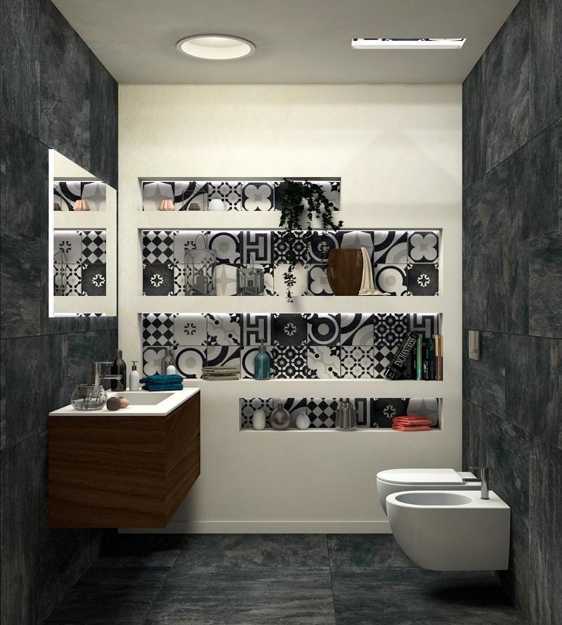 Bagno Moderno Bianco E Nero.Bagno Bianco E Nero Fratelli Pellizzari