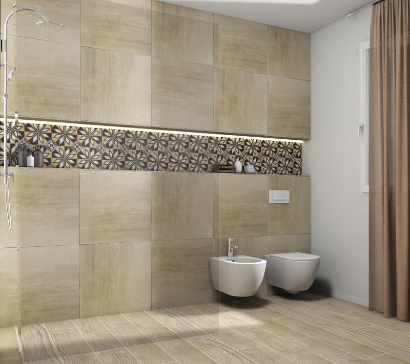 Il beige e i colori da abbinare nella stanza da bagno - Come rivestire il bagno ...