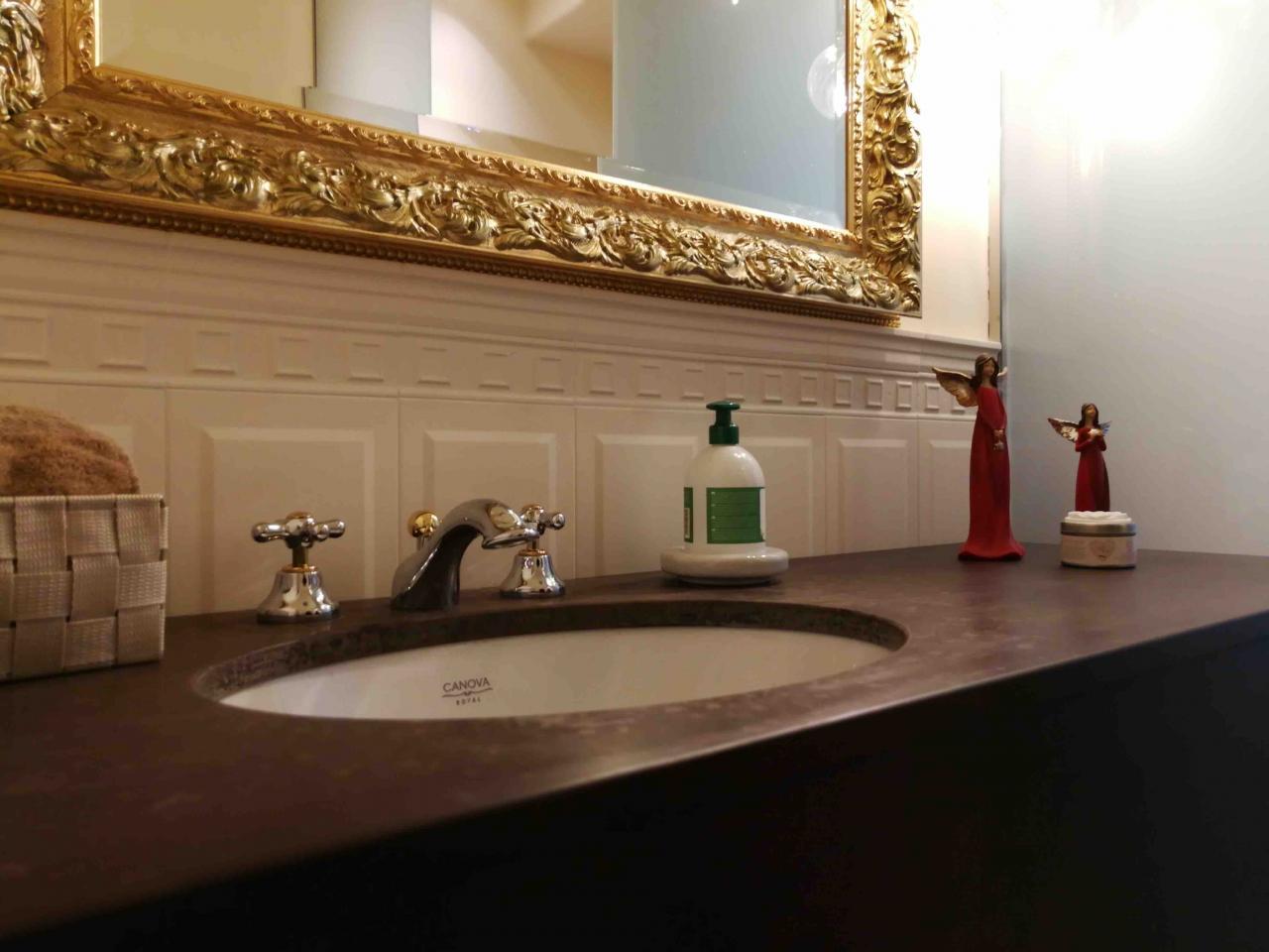 Boiserie Bagno Moderno : Fino a che altezza rivestire il bagno rifaccio casa