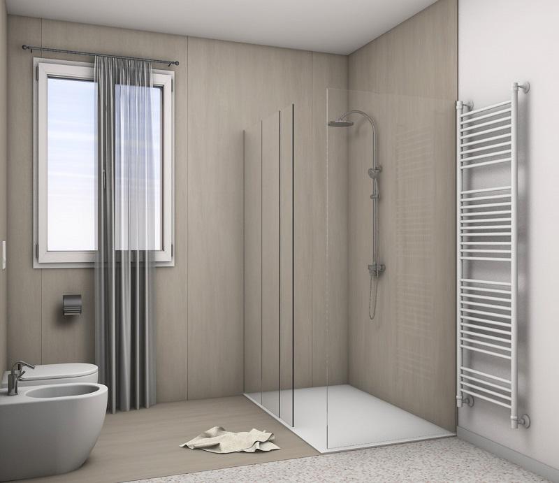 Rivestimento doccia grandi lastre fratelli pellizzari - Resina piastrelle bagno ...