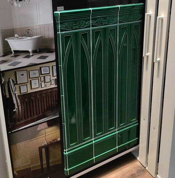 Il colore verde nella casa dona calma e tranquillit ai - Piastrelle verdi ...