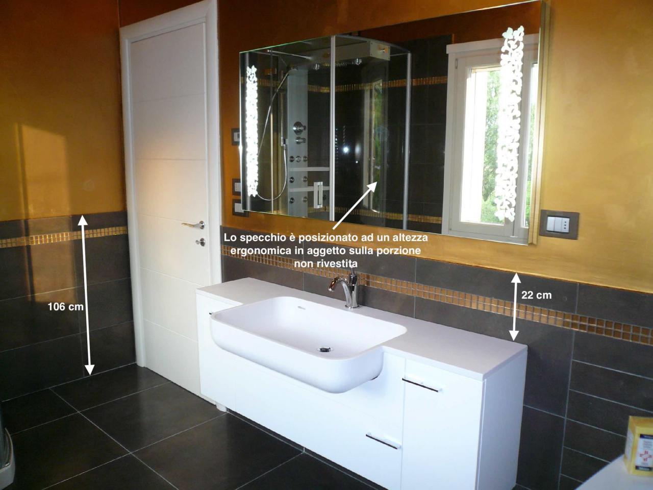 Rivestimento bagno basso quale altezza fratelli pellizzari - Altezza specchio bagno ...