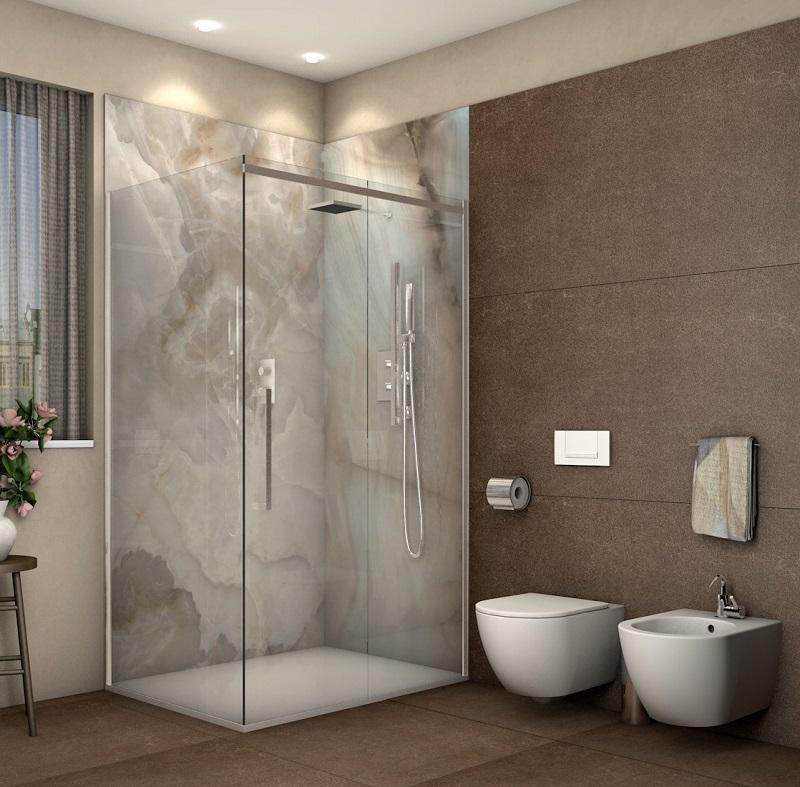 Rivestimento doccia grandi lastre fratelli pellizzari - Impermeabilizzare fughe piastrelle doccia ...