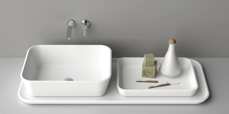 Arredamento in corian per il bagno showroom arredobagno - Piane del bagno ...