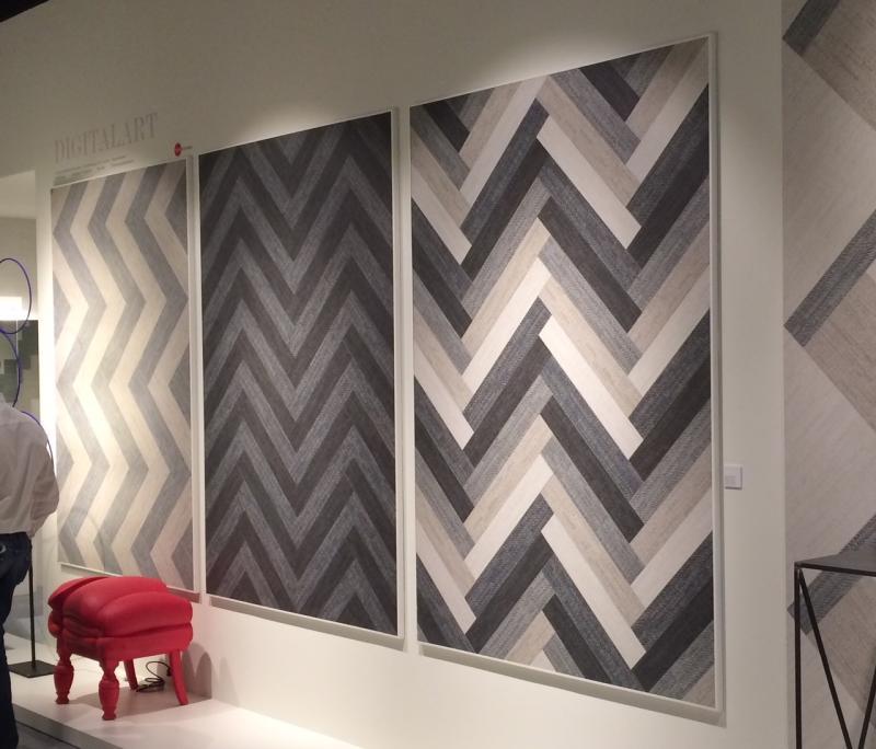 Amazing alcuni esempi di pareti con proposte di gres effetto legno with rivestire parete in legno - Rivestire parete in legno ...