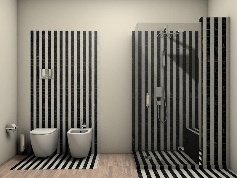 Bagno bianco e nero: tradizione nella modernità fratelli pellizzari