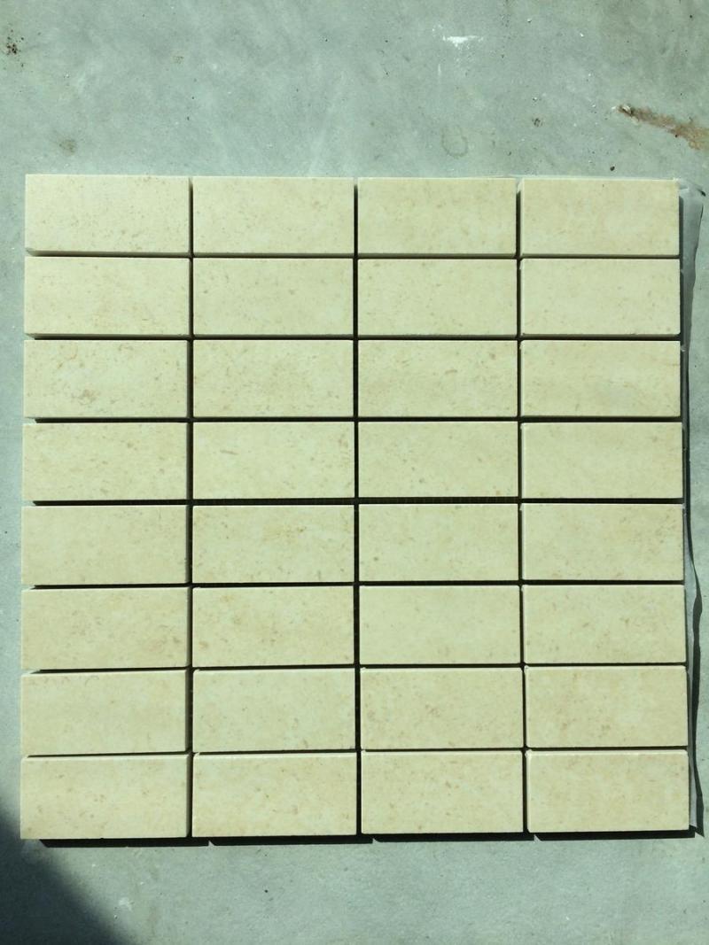 Mosaico in gres porcellanato, Naos Broccato Beige 3x6 su rete 30x30 € 48,00 i.c.  Fratelli ...