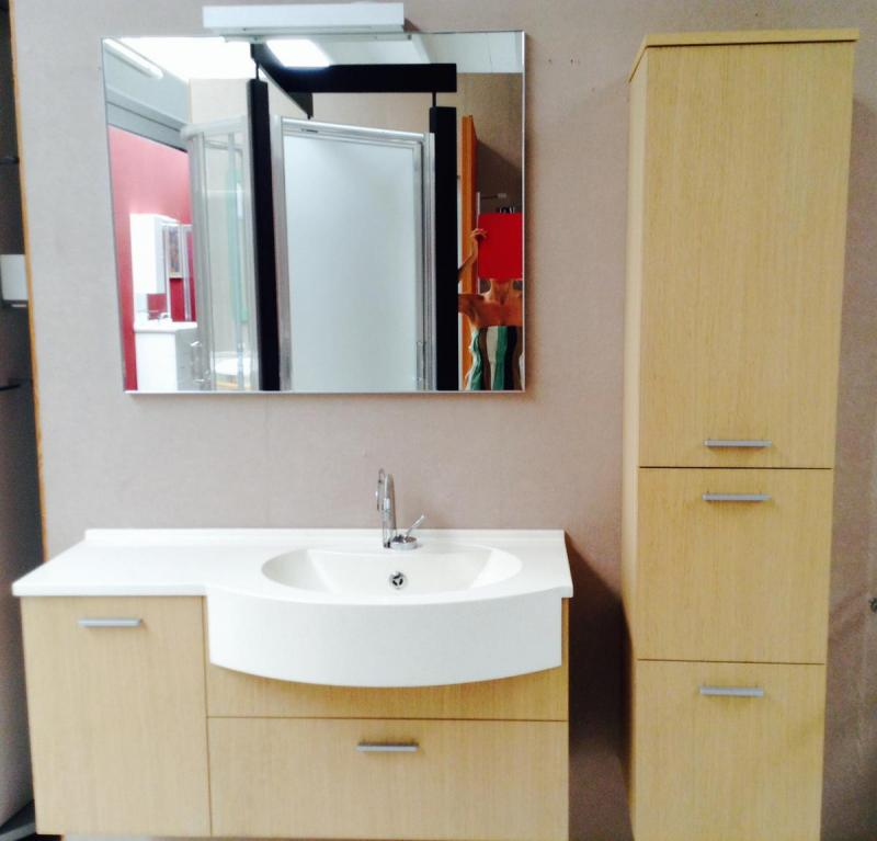 Composizione con mobile bagno in rovere pellizzari - Iva ristrutturazione bagno ...