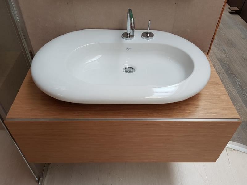 Mobile bagno e lavabo da appoggio outlet a vicenza fratelli pellizzari - Mobile legno bagno ...