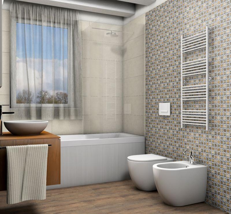 Progetto di bagno moderno fratelli pellizzari - Progetto bagno piccolo ...
