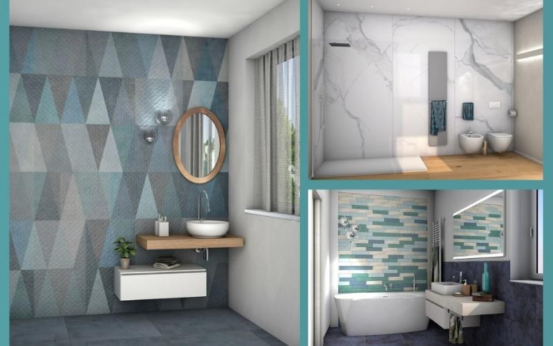 Progettare un bagno in d gratis edilizia in un click