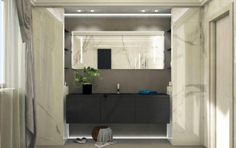 Progetti e renders di bagni e pavimenti fratelli pellizzari - Progetti bagno moderno ...