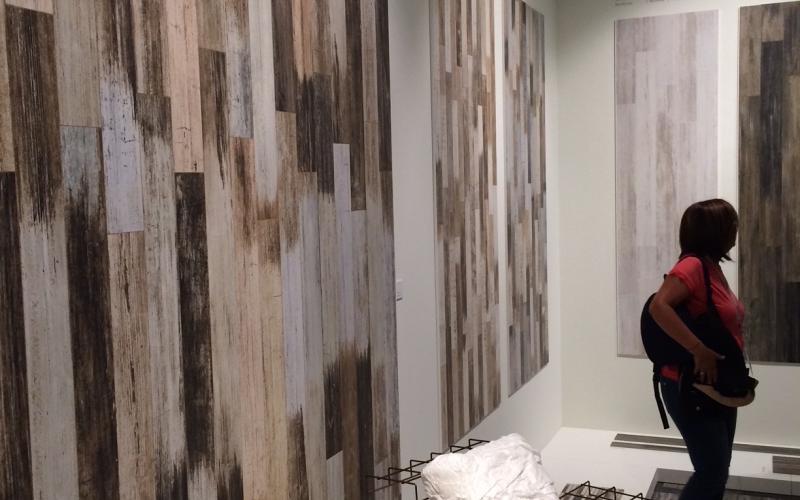 Grès effetto legno a rivestimento fratelli pellizzari