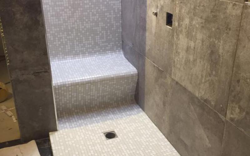 Sedile Doccia Legno : Finnsalle teak legno sedile per doccia da parete in alluminio