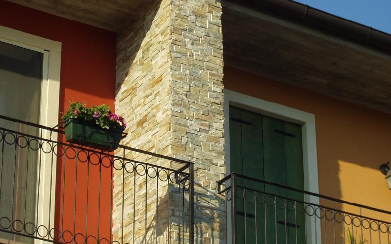 Rivestimento pietra esterno casa pavimento ingelivo casa esterno effetto pietra beige da - Rivestimento per esterno in pietra ...