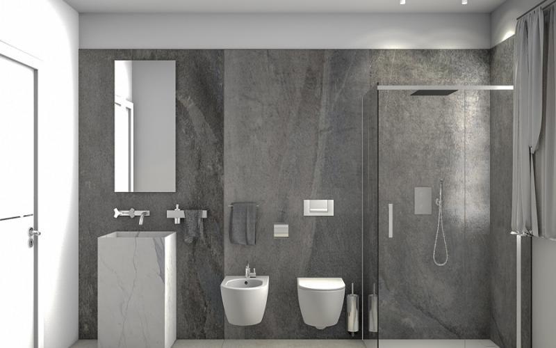 Bagno Con Mosaico Nero : Stili bagno guida fotografica per scegliere arredi e rivestimenti