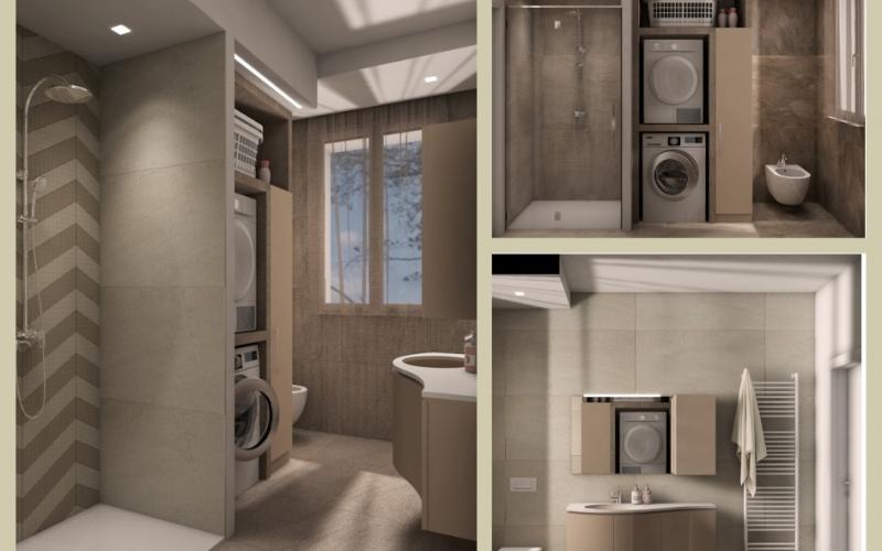 Bagno lavanderia moderno fratelli pellizzari for Si puo fare il bagno con la febbre