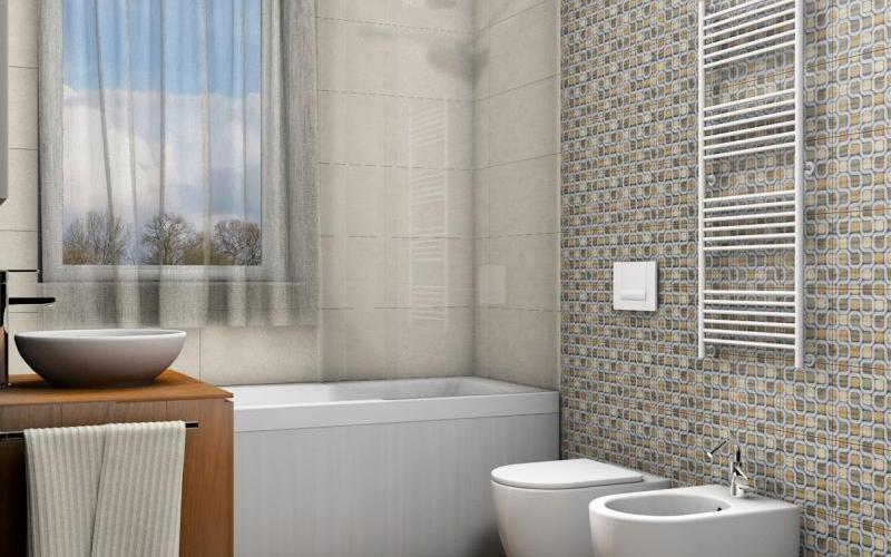 Bagni Piccoli Con Vasca : Bagno moderno piccolo con vasca