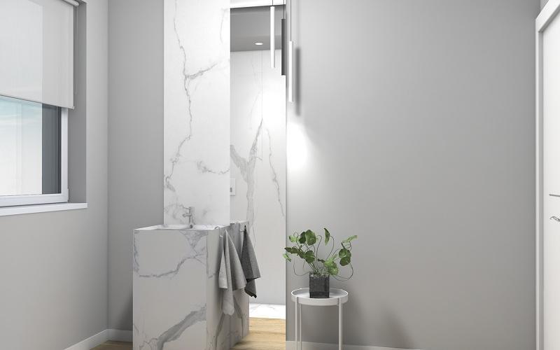 Piastrelle bagno effetto marmo. cool effetto marmo piastrelle bagno