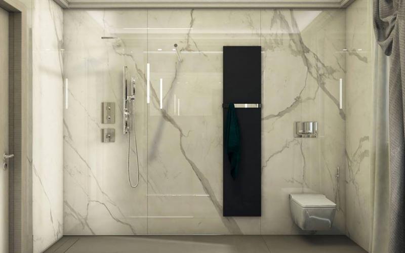 Stili bagno guida fotografica per scegliere arredi e rivestimenti fratelli pellizzari - Bagno effetto marmo ...