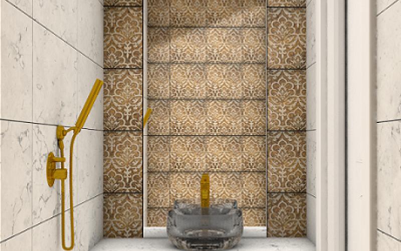 Bagno Con Mosaico Beige : Stili bagno guida fotografica per scegliere arredi e rivestimenti