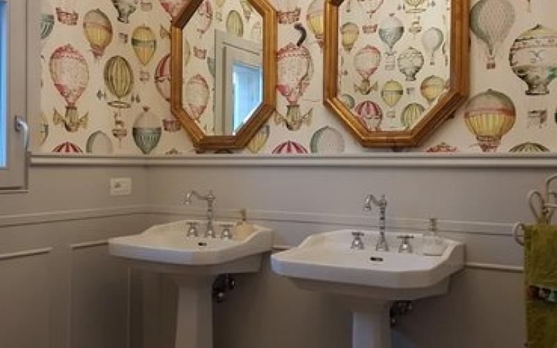 Boiserie in ceramica nel bagno moderno fratelli pellizzari