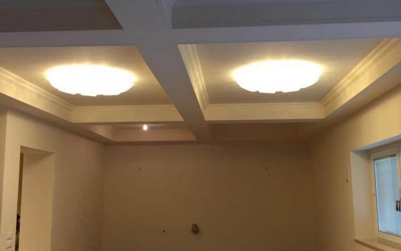 controsoffitto in cartongesso con luci verona