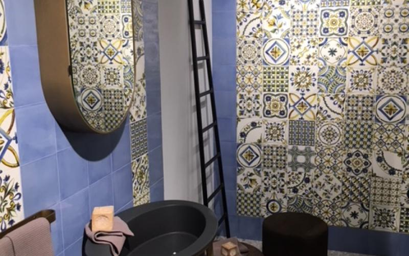 Le cementine piastrelle decorate in gres porcellanato - Piastrelle bagno cementine ...