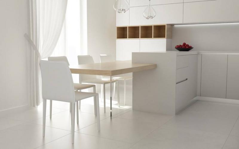 Cucina moderna tavolo separato o penisola fratelli pellizzari - Cucina moderna penisola ...