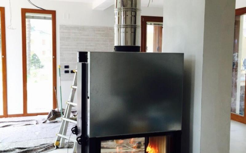 fireplace installation in vicenza