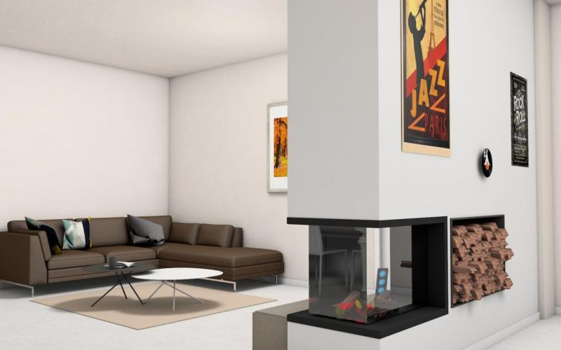 fireplace shop Vicenza render