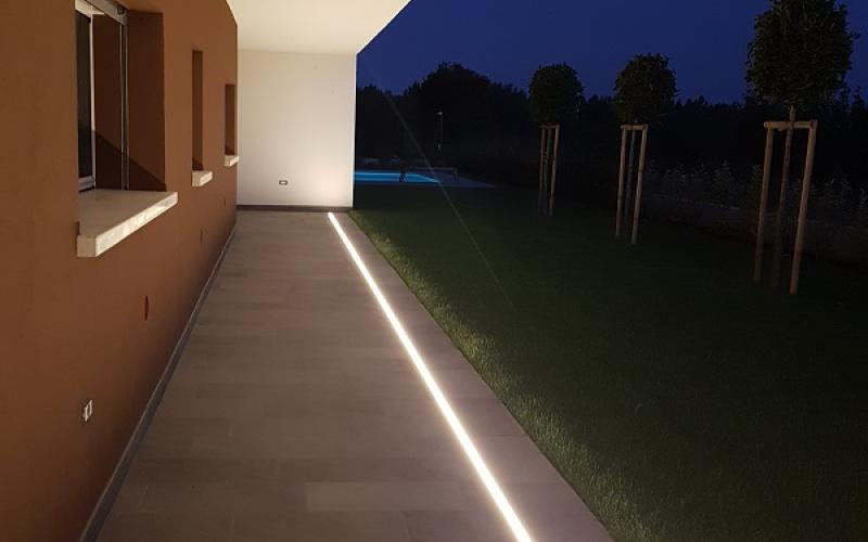 Luce illuminare i pavimenti esterni fratelli pellizzari