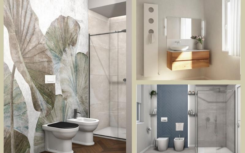 Progetti e renders di bagni e pavimenti fratelli pellizzari