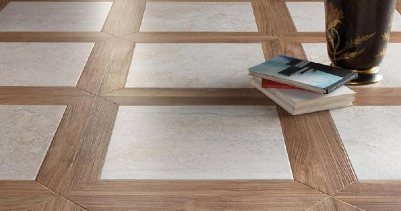 Mattonelle Simil Parquet Prezzi grès porcellanato effetto legno: quadrotte ed intarsi