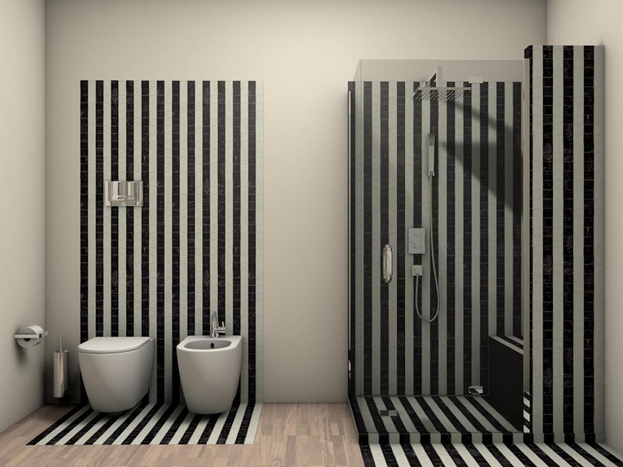 Bagno bianco e nero fratelli pellizzari