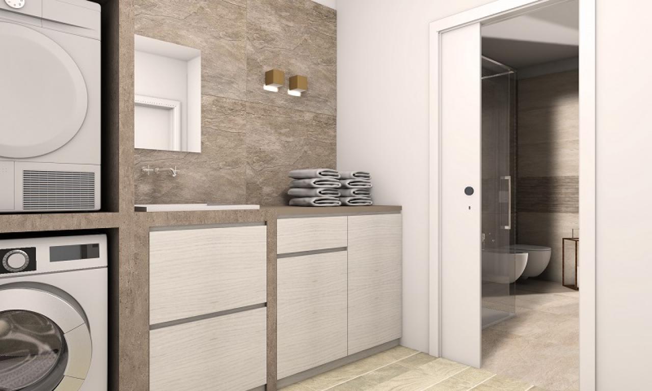 Mobile Per Lavatrice Moderno bagno lavanderia moderno | fratelli pellizzari