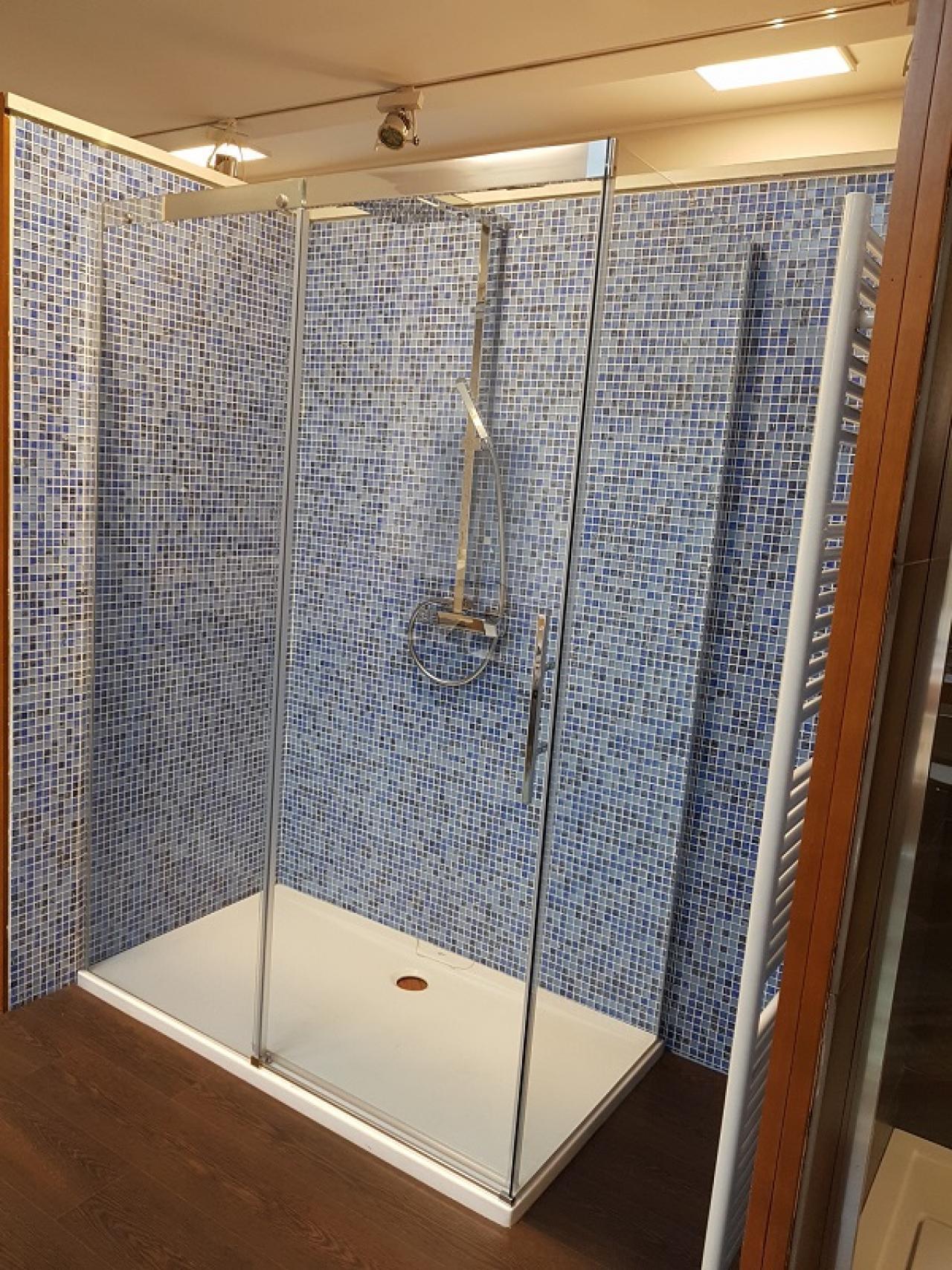Box doccia 140x80 in cristallo trasparente - prezzo outlet ...