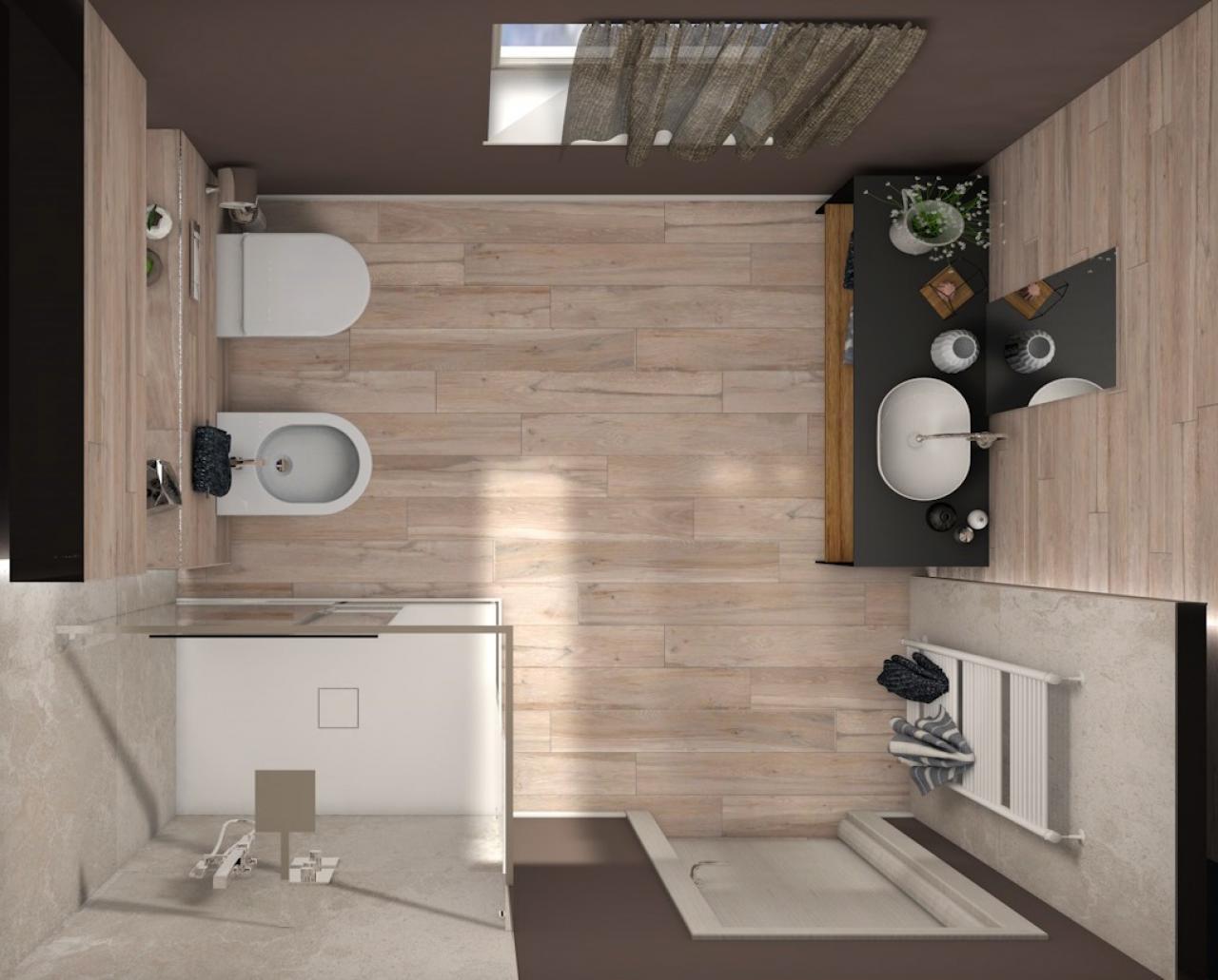Bagno con illuminazione moderna progetto di fratelli - Progetto di un bagno ...