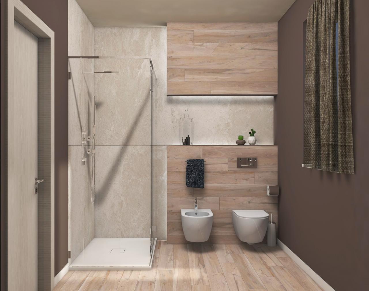 Bagno con illuminazione moderna progetto di fratelli - Plafoniera bagno ...