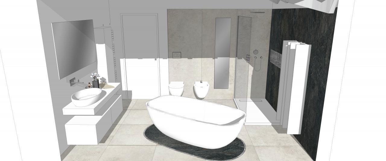 Grandi lastre per un bagno moderno a verona fratelli - Progetto bagno 3d gratis ...