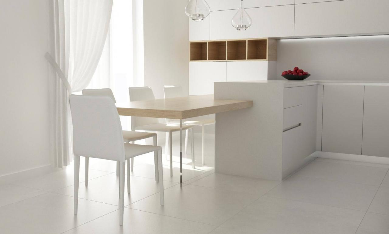 Cucina moderna tavolo separato o penisola fratelli - Cucina bianca moderna con isola ...