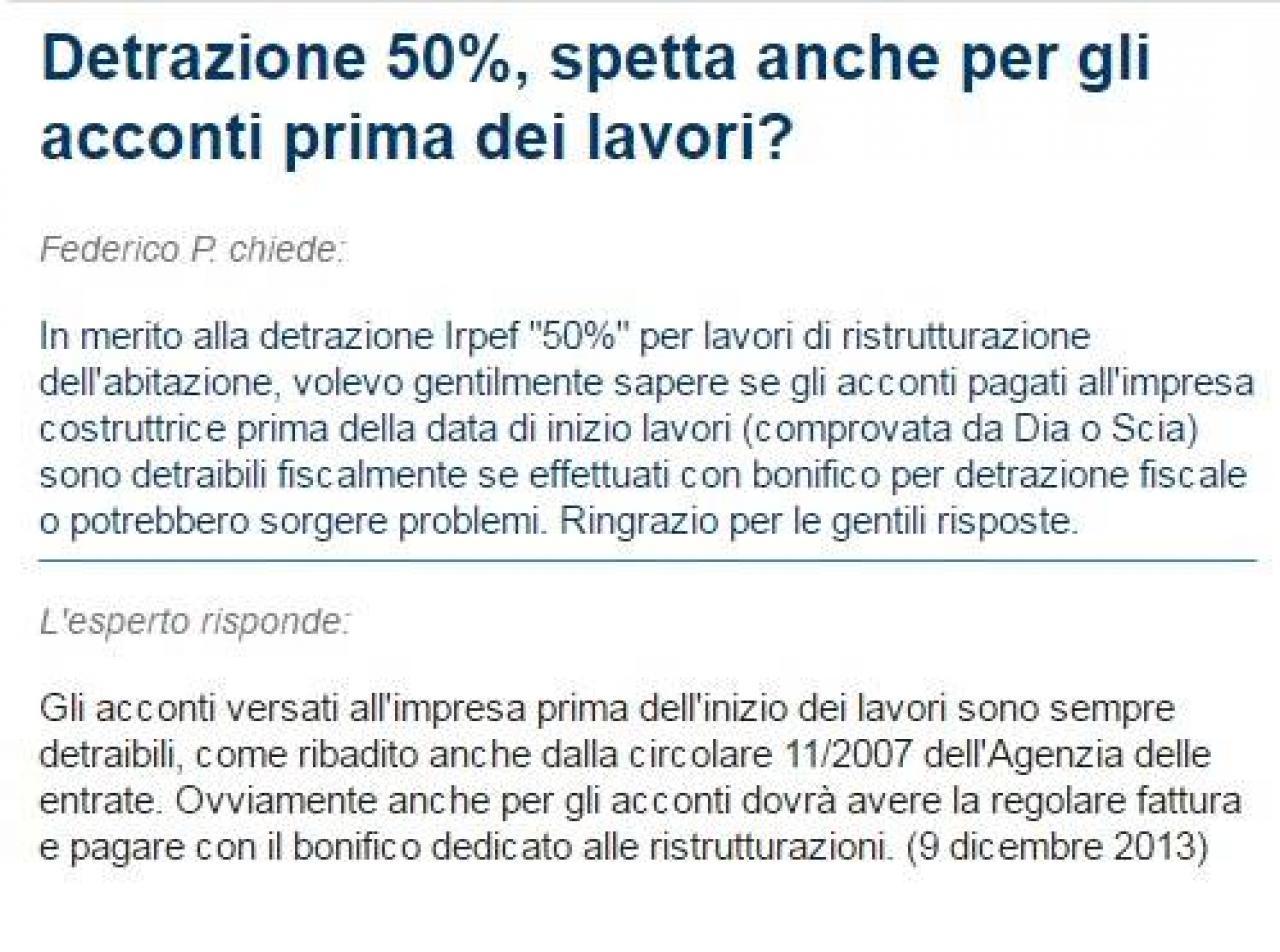 Detrazioni fiscali 50 su ristrutturazioni fratelli - Esempio calcolo detrazione 50 ristrutturazioni ...